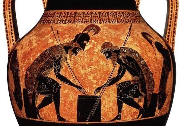 gambling history africa ancient vase